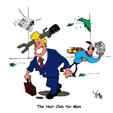 toupee held on by    'the club' theft prevention tool
